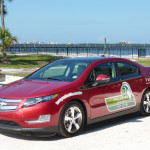 One of Tampa Electric's plug-in electric Chevy Volts.