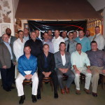 Tampa Electric's new journeymen - linemen and substation engineers - and some of their trainers and biggest supporters at Tampa Electric celebrate graduation at the Columbia Restaurant in Ybor City.
