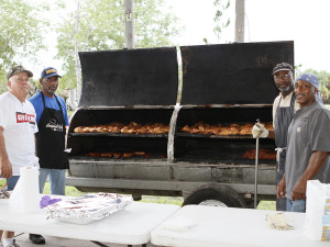 Tampa Electric team members cooked and served lunch for attendees of the fundraiser.