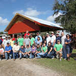TECO team members at Quantum Leap Farm.