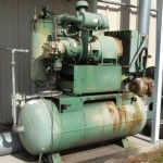 Older compressors like the one pictured here should be inspected regularly.