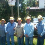 With Dade City Operations, from left to right: Darren Nelson, apprentice lineman; Cameron Hall, lineman; Kelly Young, lineman; Mark Skelton, crew leader; Jarret Samanka, lineman.