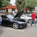 Electric vehicles on display at the Drive Electric Tampa Bay event in Oldsmar.