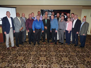 Tampa Electric's newest journeymen - the younger guys in the photo - at graduation with TECO leaders.
