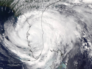 We've been here before: An enhanced satellite image of Hurricane Frances, from 2004, as seen from space.