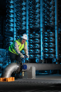 The reclaimed water that comes to Polk Power Station is treated through reverse osmosis.