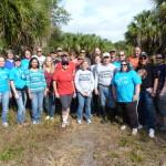 Volunteers at Newman Branch Creek.