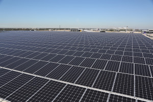 Panels capable of generating up to 2 MW of solar power at Tampa International Airport's South Economy Parking Garage.