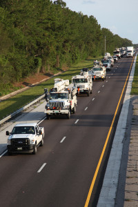 TECO crews head to help restore power in the Baltimore area in July 2012.