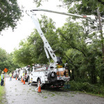 It could've been worse: TECO crews at work restoring power after Tropical Storm Colin.