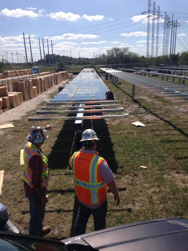 Construction Under Way On Tampa Electric S Largest Solar