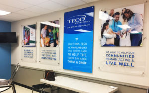 A look inside the updated TECO Community Center at Feeding Tampa Bay.