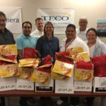 TECO team members - like those here with the Distributed Systems team within Network Engineering & Operations - are ready to fill their holiday stockings.