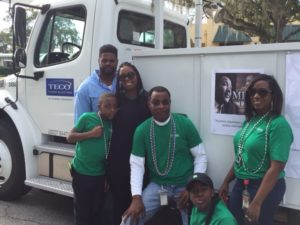 Representing TECO at the 2017 Martin Luther King Jr. Parade in Winter Haven are, from left, Brian Richard, Talisha Cole, Kamarion Cole, Willie Faniel, Jayda Govia and Donna Denmark. Not pictured: Linda Grant.