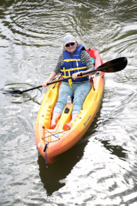 Commissioner Pat Kemp enjoys a kayak excursion at FCTC.