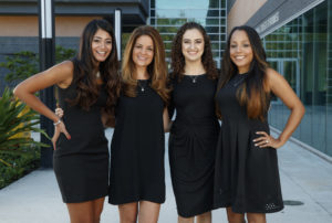Founders of the Forward Scholarship for Women of Excellence, from left to right: Puja Patel, Anna Morra, Hilili and Giselle Lara. Photo by Matt May/University of South Florida Foundation