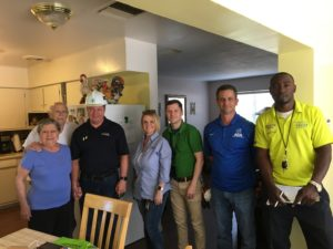 From left to right: Mrs. and Mr. Sainz, with TECO are Gordon Gillette, Heather Santana and Ian Sprawls; and with AEA, Scott Sipperley and Marcus Bailey.