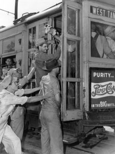 All aboard! Until the mid-1940s, Tampa's streetcar system provided incredible mobility to millions of riders annually over a 53-mile network of track across the growing city.
