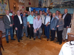 Just a few of the guys who keep power flowing to the community, this photo is from the 2017 Journeyman Lineman Graduation at The Columbia Restaurant in Ybor City.