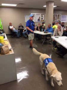 The TECO team gets a tour of the Southeastern Guide Dogs facility.
