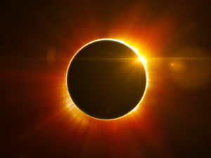 Don't look directly at the eclipse without proper precautions!