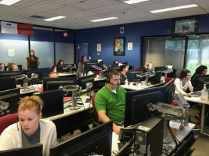 At our call center, where TECO team members worked around the clock to help our customers during Hurricane Irma with the help of SAP solutions.