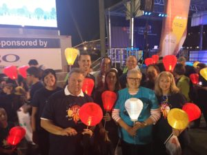 Members of the TECO team at Light the Night.