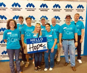 TECO's Corporate Communications team sought to bring hope to families in need at the Metropolitan Ministries Holiday Tent.